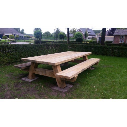 Eiken picknicktafel (300x200 cm)