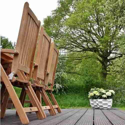 SET: Maxima tuintafel 240x103 cm + 6 st. Victoria recliner (ligstoel)