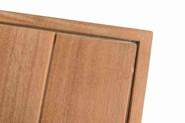 Vuurtafel hardhout Excellent vierkant