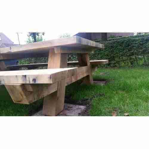 Eiken picknicktafel (200x135 cm)