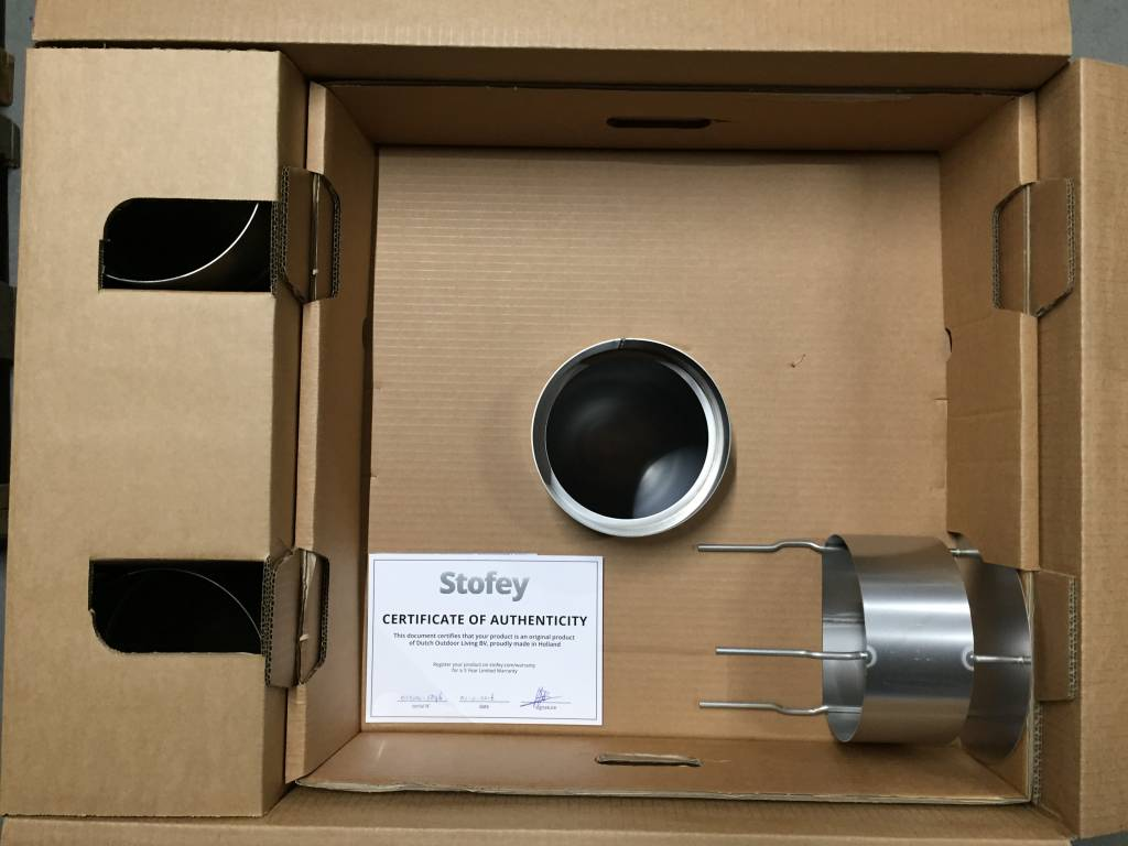 Stofey XL+ RVS buitenhaard