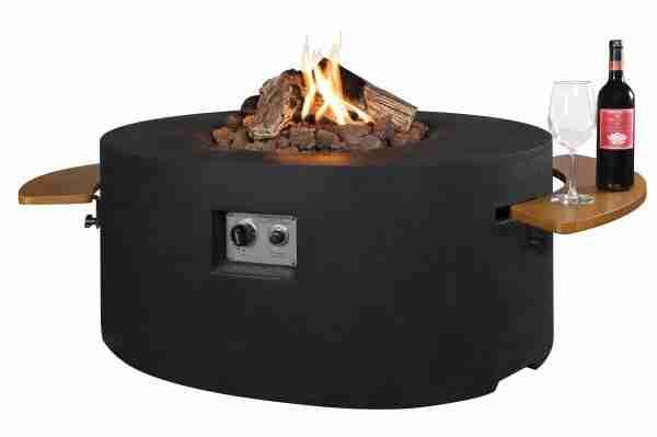 Cocoon Table Ovaal Zwart