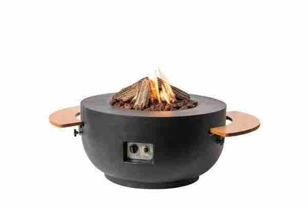 Houten Side Table rond vuurtafel Bowl Cone zitteninjetuin 1