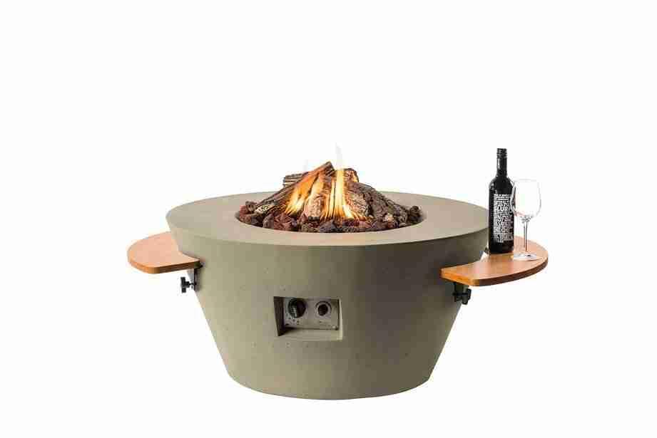 Houten Side Table rond vuurtafel Bowl Cone zitteninjetuin 3
