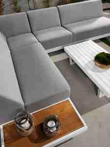 Sunbrella loungemeubel Allure Aluminium Teakhout Zitteninjetuin