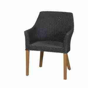 MBM_tuinstoel_fauteuil_tortuga_wicker_zwart_resysta_borneo_Zitteninjetuin_02