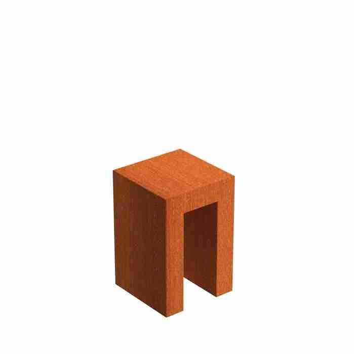 Cortenstaal-U-sokkel-zuil-Zitteninjetuin-40x40x60-cm
