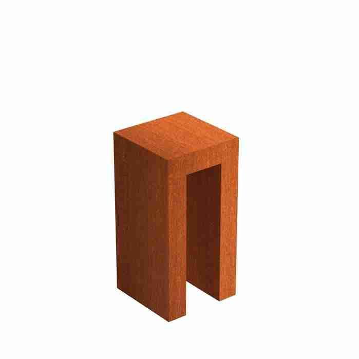 Cortenstaal-U-sokkel-zuil-Zitteninjetuin-40x40x80-cm