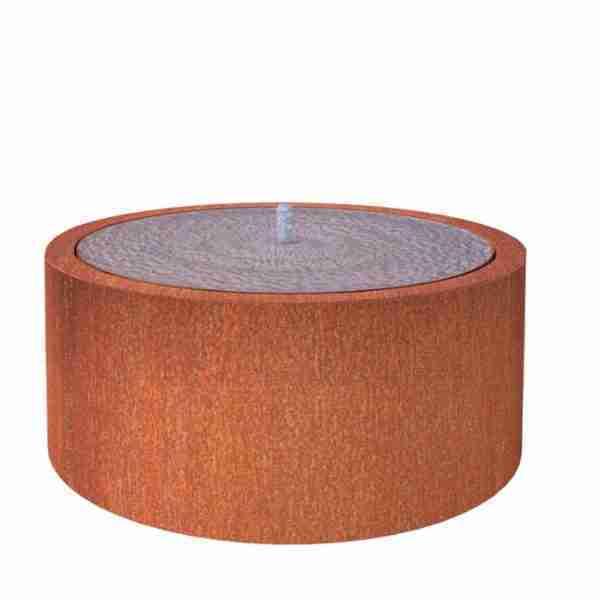 Cortenstaal-watertafel-rond-100x40cm-Zitteninjetuin