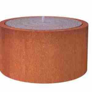 Cortenstaal-watertafel-rond-120x75cm-Zitteninjetuin